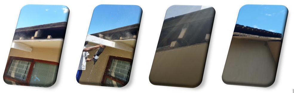 roof maintenance - before