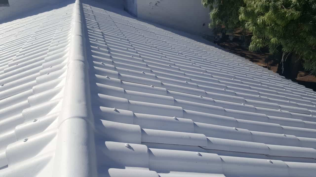 asbestos roof painting